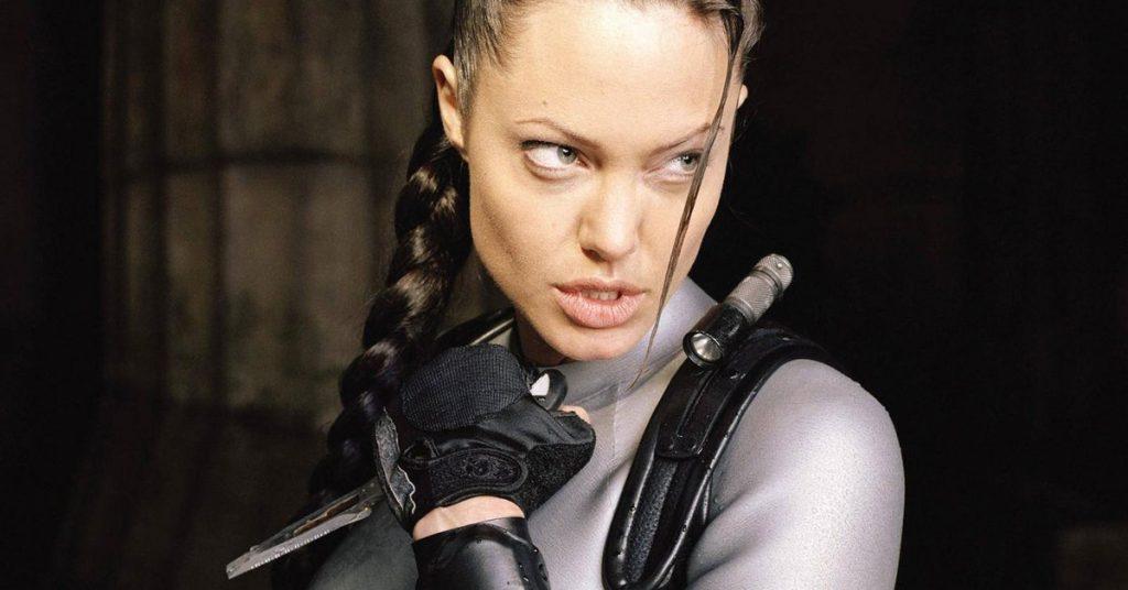 Angelina Jolie ako Lara Croft vo filme Tomb Raider